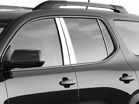 QAA PART PP57426 Fits ACADIA 2017 GMC (6 Pc: Stainless Steel Pillar Post Trim Kit , 4-door, SUV) PP57426