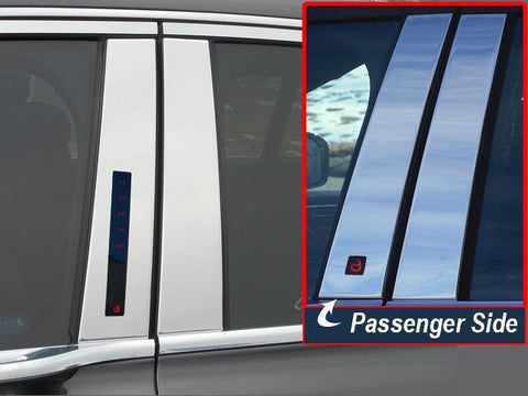 QAA PART  PP57680 fits CONTINENTAL 2017-2018 LINCOLN (4 Pc: Stainless Steel Pillar Post Trim Kit , 4-door) PP57680