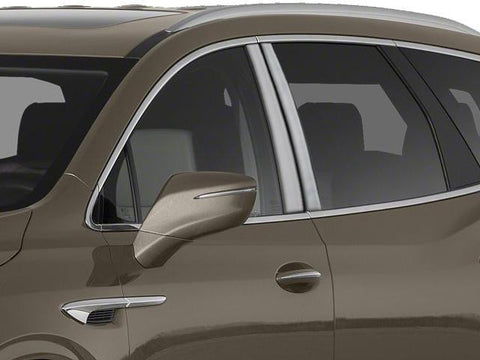 Qaa Part Pp58530 Fits Enclave 2018 Buick (4 Pc: Stainless Steel Pillar Post Trim Kit , 4-Door, Suv)