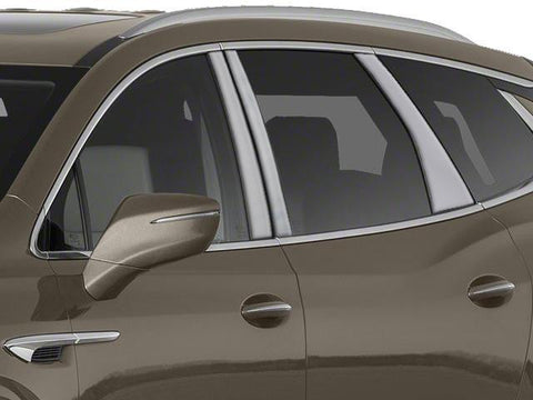 Qaa Part Pp58531 Fits Enclave 2018 Buick (6 Pc: Stainless Steel Pillar Post Trim Kit , 4-Door, Suv)