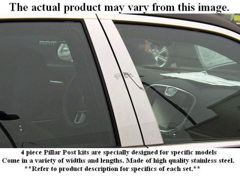 QAA PART  PP92370 fits ELANTRA 1992-1995 HYUNDAI (4 Pc: Stainless Steel Pillar Post Trim Kit, 4-door) PP92370
