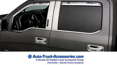 Putco element chrome window vent visors for Ford F150 Fits 2015 and up Ford F150 - Auto-Truck-Accessories  - 1