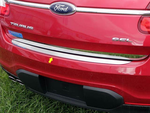 QAA PART  RB50490 fits TAURUS 2010-2018 FORD (1 Pc: Stainless Steel Rear Bumper Accent Trim, 4-door) RB50490