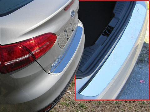 QAA PART  RB55345 fits FOCUS 2015-2018 FORD (1 Pc: Stainless Steel Rear Bumper Accent Trim, 4-door) RB55345