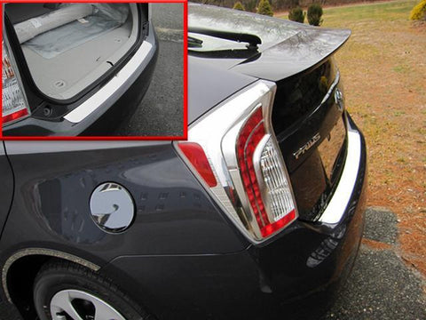 QAA PART  RB10135 fits PRIUS 2010-2015 TOYOTA (1 Pc: Stainless Steel Rear Bumper Accent Trim, 4-door) RB10135