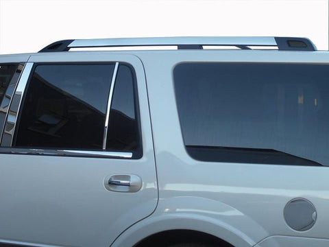 QAA PART  RR55384 fits EXPEDITION 2008-2017 FORD (2 Pc Stainless Steel Roof Rack Trim - Note: This item adheres to factory Roof Rack Trim. You MUST have factory Roof Rack Trim to use this item, 4-door, SUV, NO EL) RR55384