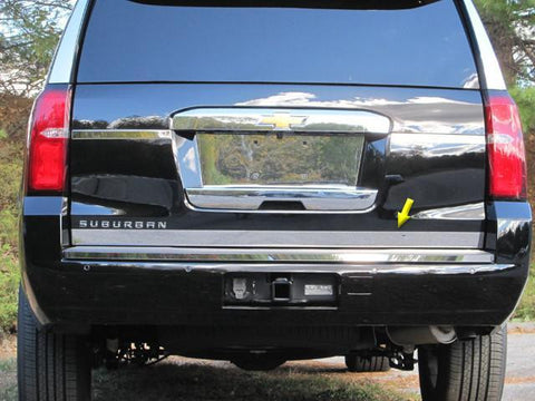 "QAA PART  RT55195 fits SUBURBAN 2015-2018 CHEVROLET (1 Pc: Stainless Steel Rear Tailgate Accent Trim - 2.25"" wide, 4-door, SUV) RT55195"