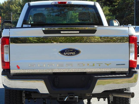 "QAA PART  RT57320 fits F-250/F-350 SUPER DUTY 2017-2018 FORD (1 Pc: Stainless Steel Rear Tailgate Accent Trim - 2"" wide, 2/4-door) RT57320"
