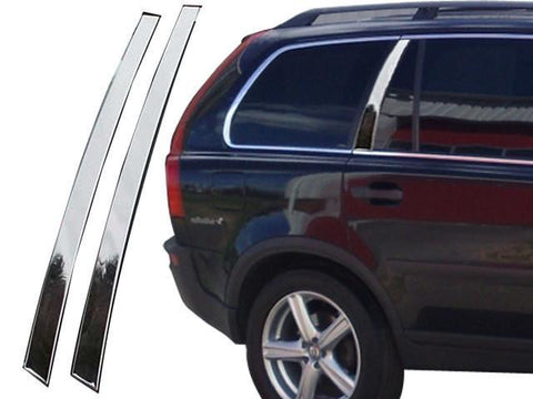 QAA PART  RW27382 fits XC90 2007-2014 VOLVO (2 Pc: Stainless Steel Rear Window Trim, 4-door) RW27382
