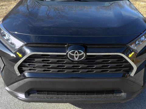 QAA PART SG19180 fitsRAV4 2019 TOYOTA (2 Pc: Stainless Steel Front Grille Accent Trim, 4-door, SUV) SG19180