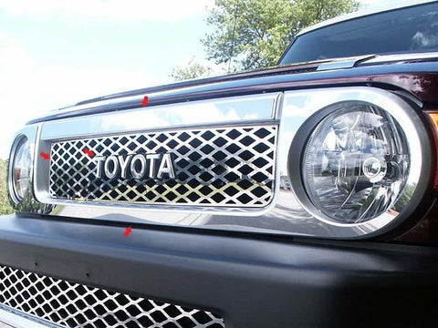 QAA PART  SG27140 fits FJ CRUISER 2007-2014 TOYOTA (9 Pc: Stainless Steel Grille & Surround Package, 4-door, SUV) SG27140