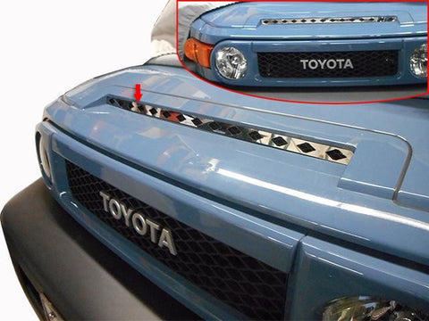 QAA PART  SG27142 fits FJ CRUISER 2007-2010 TOYOTA (1 Pc: Stainless Steel Upper Hood Grille Insert, 4-door, SUV) SG27142