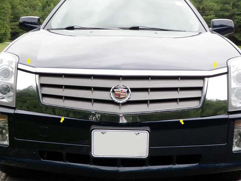 QAA PART  SG44260 fits SRX 2004-2009 CADILLAC (4 Pc: Stainless Steel Grille Extension Trim, 4-door, Does not work for models w/ headlight washers) SG44260