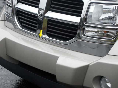 "QAA PART  SG47940 fits NITRO 2007-2011 DODGE (1 Pc: Stainless Steel Lower Grille Extension - 3.5"" wide, 4-door, SUV) SG47940"