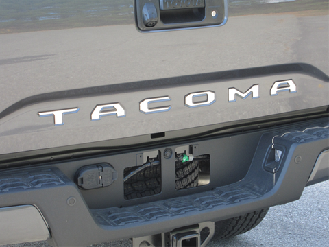 "QAA PART  SGR16175 fits TACOMA 2016-2017 TOYOTA (6 Pc: Stainless Steel ""TACOMA'"" Tailgate Letter Insert, 2/4-door) SGR16175"