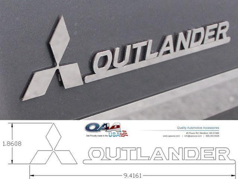 QAA PART  SGR27010 fits OUTLANDER 2007-2009 MITSUBISHI (4 Pc: Stainless Steel Logo Package, 4-door, SUV) SGR27010