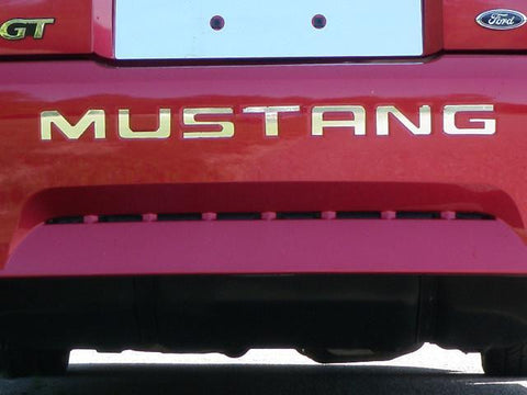 "QAA PART SGR39351 Fits MUSTANG 1999-2004 FORD (7 Pc: Stainless Steel ""MUSTANG"" Bumper Letter Insert - Approx. 1.75"" , 2-door) SGR39351"