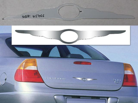 "QAA PART  SGR45766 fits UNIVERSAL 2005-2010 CHRYSLER (1 Pc: Stainless Steel ""WING"" Logo Trim - w/ cut out, 4-door) SGR45766"