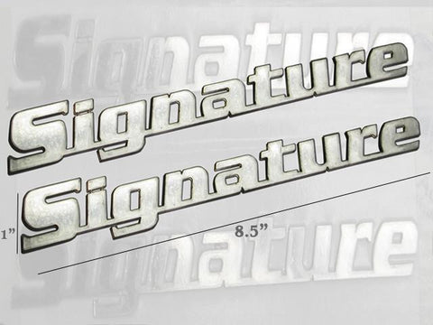 "QAA PART  SGR47610 fits MKX 2007+ LINCOLN (2 Pc: Stainless Steel ""SIGNATURE"" Logo Trim, 4-door, SUV) SGR47610"