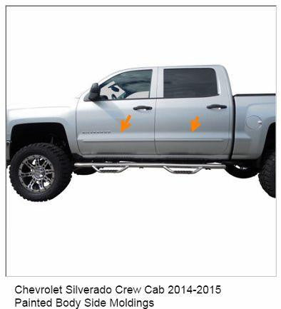 Painted body side molding set for Chevy Silverado crew cab - Auto-Truck-Accessories