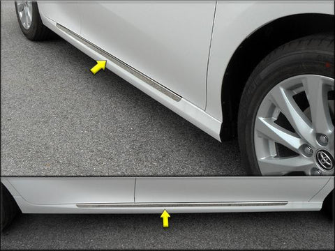 "QAA PART  TH18131 fits CAMRY 2018 TOYOTA (2 Pc: SS Rocker Panel Body Accent Trim, 1.25"" wide - On the rocker: below the door , 4-door) TH18131"