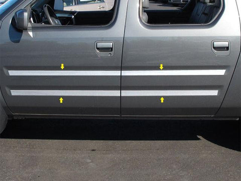 "QAA PART  TH25240 fits RIDGELINE 2006-2012 HONDA (8 Pc: SS Rocker Panel Body Accent Trim, 1.938"" wide - Lower Kit: Bottom of the door UP to the specified width , 4-door) TH25240"