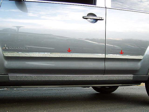 "QAA PART  TH27011 fits OUTLANDER 2007-2009 MITSUBISHI (4 Pc: SS Rocker Panel Body Accent Trim, 1.5"" wide - Lower Kit: Bottom of the door UP to the specified width , 4-door, SUV) TH27011"