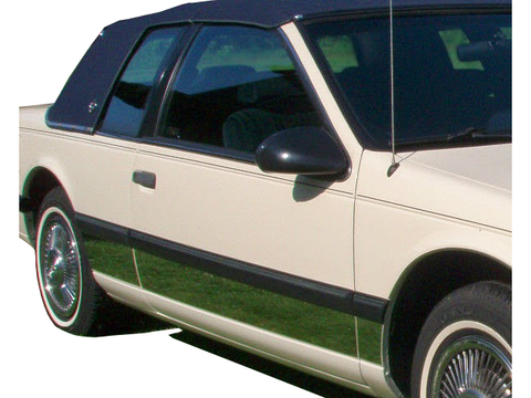 "QAA PART  TH31669 fits COUGAR 1989-1995 MERCURY (6 Pc: SS Rocker Panel Body Accent Trim, 3.5"" wide - Lower Kit: Bottom of the door UP to the specified width , 2-door) TH31669"