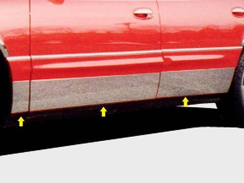 "QAA PART  TH37580 fits PARK AVENUE 1997-2005 BUICK (6 Pc: SS Rocker Panel Body Accent Trim, 7.25"" - 7.563"" tapered width - Full Kit: Bottom of the molding to the bottom of the door, 4-door) TH37580"