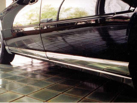 "QAA PART  TH38236 fits SEVILLE 1998-2004 CADILLAC (8 Pc: SS Rocker Panel Body Accent Trim, 4.75"" wide - Lower Kit: Bottom of the door UP to the specified width , 4-door) TH38236"
