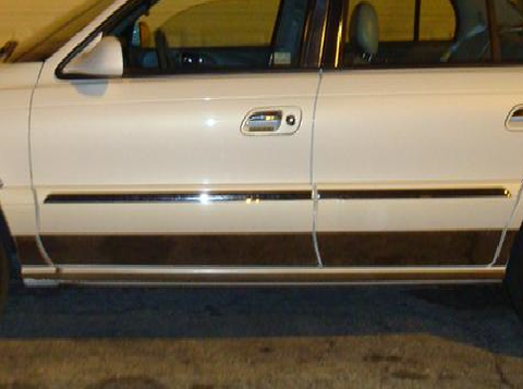 "QAA PART  TH38610 fits CONTINENTAL 1998-2004 LINCOLN (8 Pc: SS Rocker Panel Body Accent Trim, 5.125"" - 6"" tapered width - Lower Kit: Bottom of the door UP to the specified width , 4-door) TH38610"