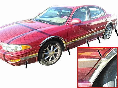 "QAA PART  TH40567 fits LESABRE 2000-2005 BUICK (12 Pc: SS Rocker Panel Body Accent Trim, 3.5"" wide - Upper Kit: Bottom of molding DOWN to the specified width , 4-door) TH40567"