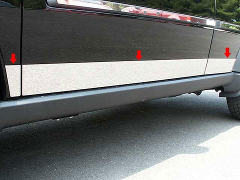 "QAA PART  TH47940 fits NITRO 2007-2011 DODGE (6 Pc: SS Rocker Panel Body Accent Trim, 3.75"" wide - Lower Kit: Bottom of the door UP to the specified width , 4-door, SUV) TH47940"