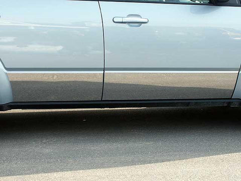 "QAA PART  TH48355 fits TAURUS X 2008-2009 FORD (4 Pc: SS Rocker Panel Body Accent Trim, 8.438"" - 9.25"" tapered width - Full Kit: Bottom of the molding to the bottom of the door (door trim only), 4-door) TH48355"