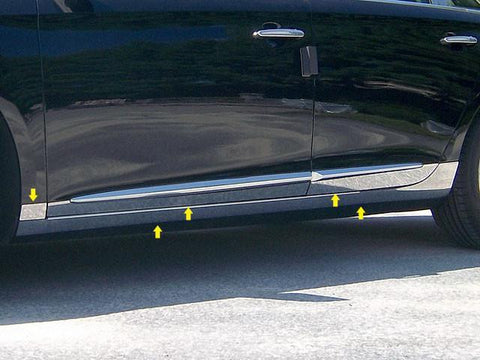 "QAA PART  TH53247 fits XTS 2013-2018 CADILLAC (10 Pc: SS Rocker Panel Body Accent Trim, 6.375"" wide - Full Kit: Bottom of the molding to the bottom of the door, 4-door) TH53247"