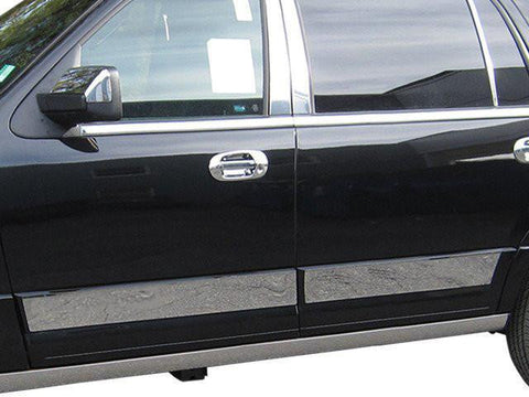 "QAA PART  TH55384 fits EXPEDITION 2015-2017 FORD (4 Pc: SS Rocker Panel Body Accent Trim, 5"" wide - Upper Kit: Bottom of molding DOWN to specified width, ""EL"" model ONLY, 4-door, NO Platinum, SUV) TH55384"