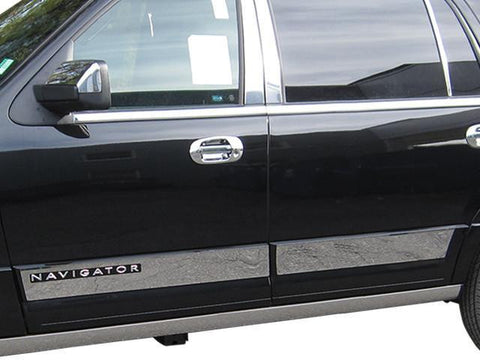 "QAA PART TH55659 Fits NAVIGATOR 2015-2017 LINCOLN (4 Pc: SS Rocker Panel Body Accent Trim, 5"" wide - Upper Kit: Bottom of molding DOWN to specified width, ""L"" model ONLY, 4-door, SUV) TH55659"