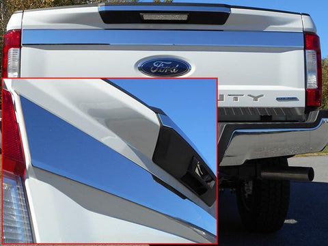 "QAA PART  TP57320 fits F-250/F-350 SUPER DUTY 2017-2018 FORD (1 Pc: Stainless Steel Upper Trunk/Rear Tailgate Accent Trim - 3.875"" wide, 2/4-door) TP57320"