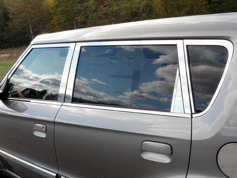 QAA PART  WP10831 fits SOUL 2010-2011 KIA (16 Pc: Stainless Steel Window Trim Package w/ pillar trim, NO window still trim, 4-door) WP10831
