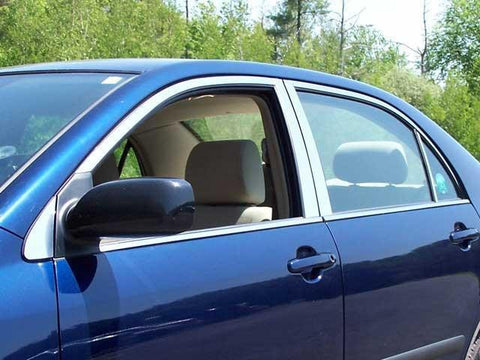 QAA PART  WP24112 fits COROLLA 2004-2008 TOYOTA (12 Pc: Stainless Steel Window Trim Package w/ pillar trim , 4-door) WP24112