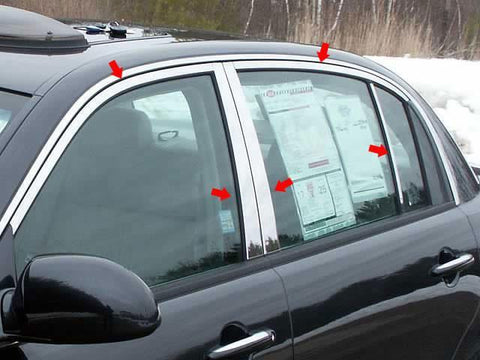 QAA PART  WP24800 fits AMANTI 2004-2010 KIA (10 Pc: Stainless Steel Window Trim Package w/ pillar trim, 4-door) WP24800