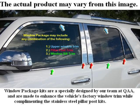 QAA PART  WP25125 fits AVALON 2005-2011 TOYOTA (12 Pc: Stainless Steel Window Trim Package w/ pillar trim , 4-door) WP25125