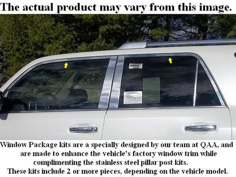 QAA PART  WP25126 fits AVALON 2005-2011 TOYOTA (6 Pc: Stainless Steel Window Trim Package NO pillar trim , 4-door) WP25126