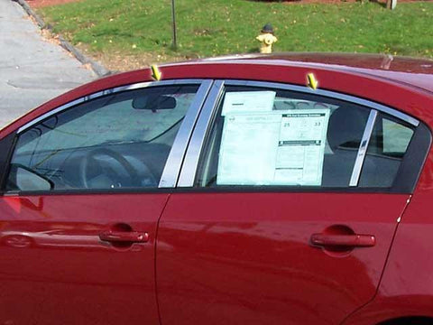 QAA PART  WP28576 fits SENTRA 2007-2012 NISSAN (4 Pc: Stainless Steel Window Trim Package NO pillar trim , 4-door) WP28576