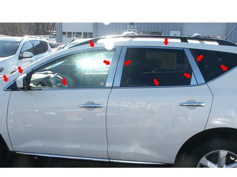 QAA PART  WP29590 fits MURANO 2009-2014 NISSAN (22 Pc: Stainless Steel Window Trim Package (includes: #PP29592, #WP29591, #WS29590), 4-door, SUV) WP29590