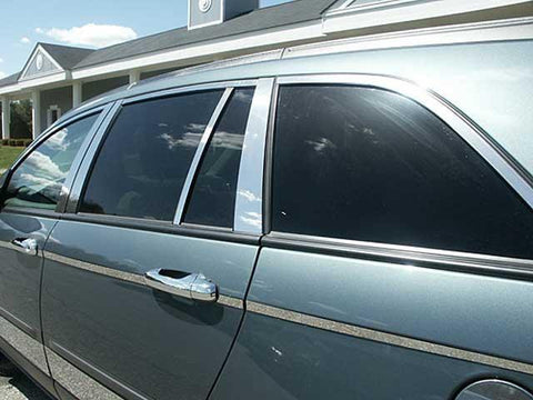 QAA PART  WP44750 fits PACIFICA 2004-2008 CHRYSLER (14 Pc: Stainless Steel Window Trim Package , 4-door) WP44750