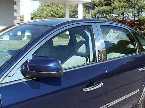 QAA PART  WP45495 fits FIVE HUNDRED 2005-2007 FORD (8 Pc: Stainless Steel Window Trim Package NO pillar trim , 4-door) WP45495