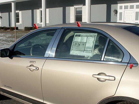QAA PART  WP46635 fits MKZ 2006-2012 LINCOLN (6 Pc: Stainless Steel Window Trim Package NO pillar trim , 4-door) WP46635