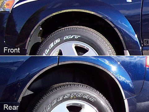 QAA PART  WQ43440 fits VUE 2003-2007 SATURN (6 Pc: Stainless Steel Wheel Well Accent Trim w/ 3M Adhesive, NO Black Rubber Gasket, 4-door) WQ43440