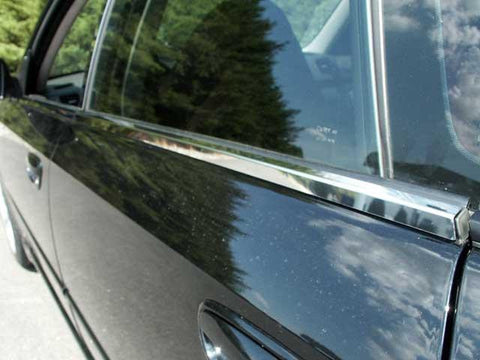 QAA PART  WS25445 fits LEGACY 2005-2007 SUBARU (4 Pc: Stainless Steel Window Sill Trim, 4-door) WS25445